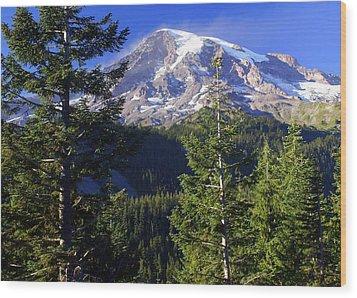 Mount Raineer 1 Wood Print by Marty Koch