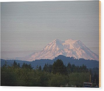 Mount Rainier Washington  Wood Print by Laurie Kidd