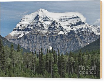 Mount Robson British Columbia Wood Print by Elaine Manley