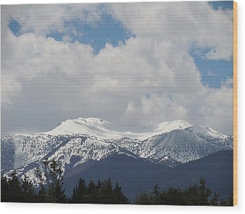 Mount Rose Reno Nevada Wood Print by Dan Whittemore
