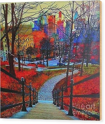 Mount Royal Peel's Exit Wood Print