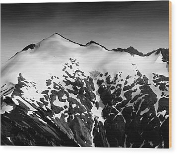 Wood Print featuring the photograph Mount Ruth In The Washington Cascade Mountains by Brendan Reals
