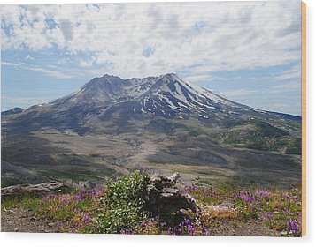 Mount Saint Helens Wood Print