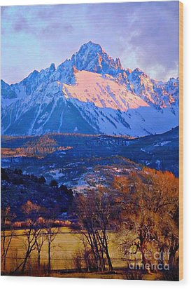 Mount Sneffels  Wood Print by Annie Gibbons