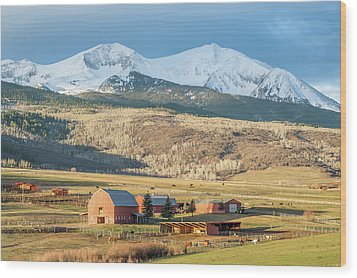 Wood Print featuring the photograph Mount Sopris Sunrise by Eric Glaser