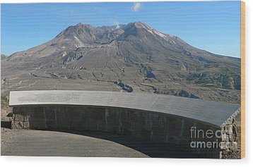 Wood Print featuring the photograph Mount St. Helen Memorial by Larry Keahey