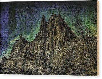 Mount St Michael Unreal Wood Print