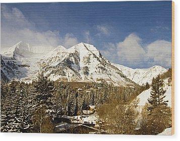 Mount Timpanogos Wood Print by Scott Pellegrin