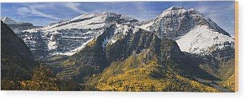 Mount Timpanogos Wood Print by Utah Images