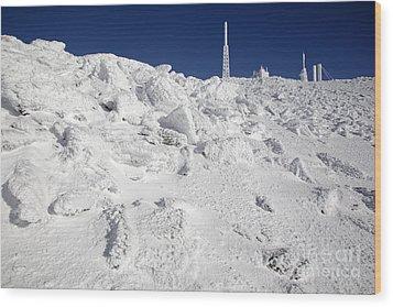 Mount Washington New Hampshire - Rime Ice Wood Print by Erin Paul Donovan