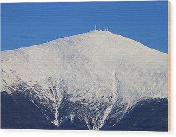 Mount Washington Summit And Weather Observatory Wood Print by John Burk