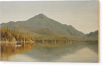 Mount Whiteface From Lake Placid Wood Print by Albert Bierstadt