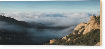 Mount Woodson Clouds Wood Print by William Dunigan
