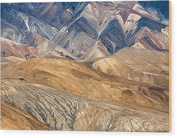 Mountain Abstract 4 Wood Print by Hitendra SINKAR