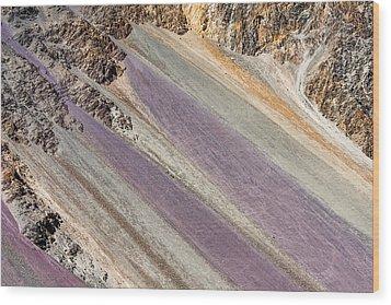 Mountain Abstract 6 Wood Print by Hitendra SINKAR