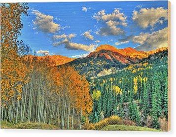 Mountain Beauty Of Fall Wood Print by Scott Mahon