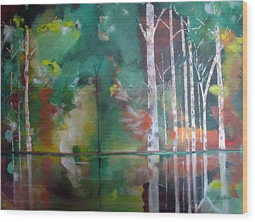 Wood Print featuring the painting Mountain Birch by Gary Smith