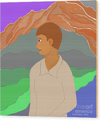 Mountain Boy Wood Print by Fred Jinkins