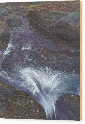 Mountain Brook Wood Print by Laurel Ellis