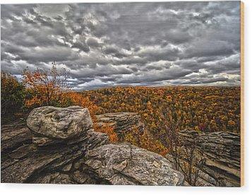 Mountain Colors Wood Print