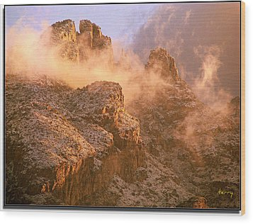 Mountain Dusting Wood Print