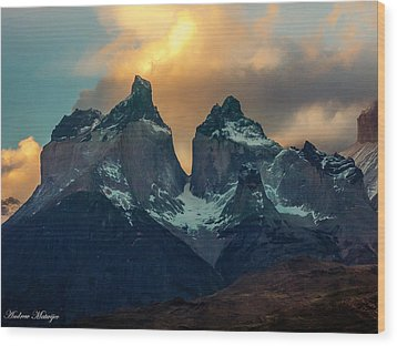 Mountain Evening Wood Print by Andrew Matwijec