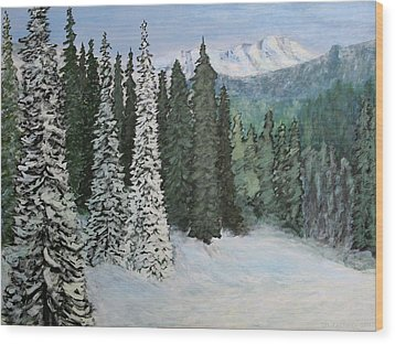 Mountain Foothills Wood Print by Jim Justinick