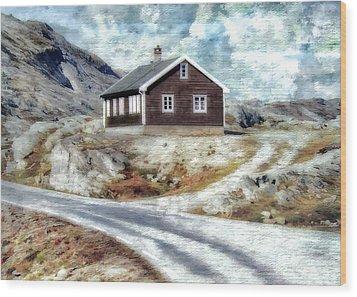 Mountain Home Wood Print