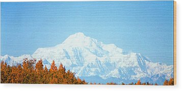 Mountain Wood Print by Judyann Matthews