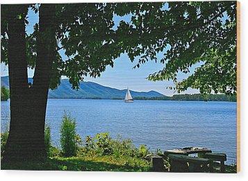 Smith Mountain Lake Sailor Wood Print by The American Shutterbug Society
