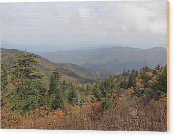 Mountain Long View Wood Print