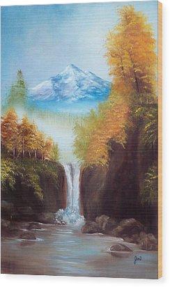 Mountain Majesty Wood Print by Joni McPherson