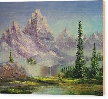 Mountain Majesty Wood Print by Lynda McDonald