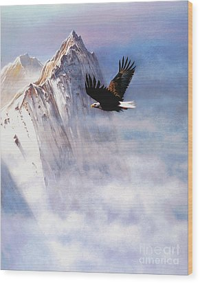Mountain Majesty Wood Print by Robert Foster
