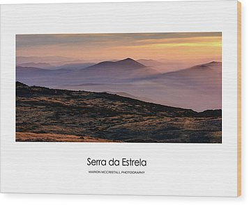 Wood Print featuring the photograph Mountain Mist Poster by Marion McCristall