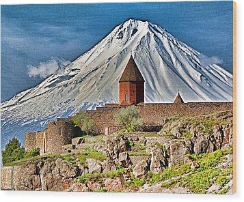 Mountain Monastery Wood Print by Dennis Cox WorldViews