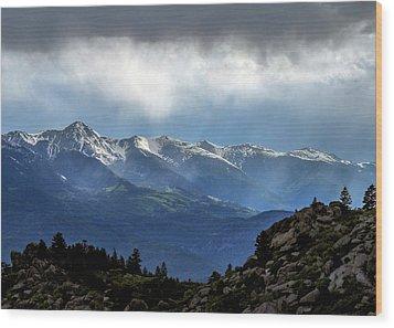 Mountain Moodiness Wood Print