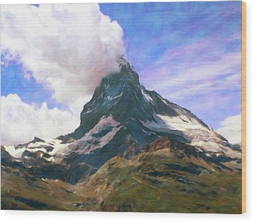 Wood Print featuring the photograph Mountain Of Mountains  by Connie Handscomb