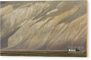 Wood Print featuring the photograph Mountain Patterns, Padum, 2006 by Hitendra SINKAR