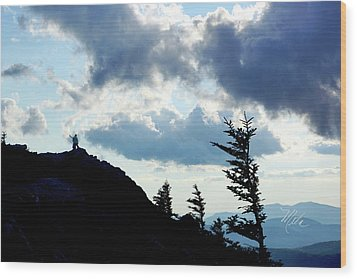 Mountain Peak Wood Print
