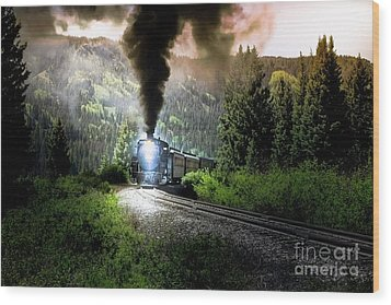 Wood Print featuring the photograph Mountain Railway - Morning Whistle by Robert Frederick