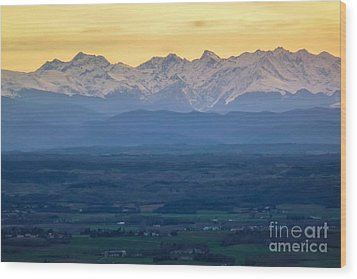 Mountain Scenery 15 Wood Print