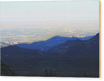 Mountain Shadow Wood Print by Christin Brodie