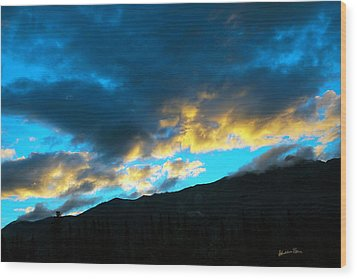 Wood Print featuring the photograph Mountain Silhouette by Madeline Ellis