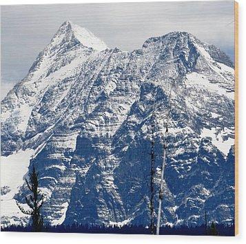 Mountain Snow Wood Print
