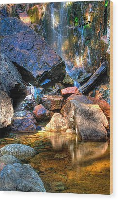 Wood Print featuring the photograph Mountain Stream by Greg DeBeck