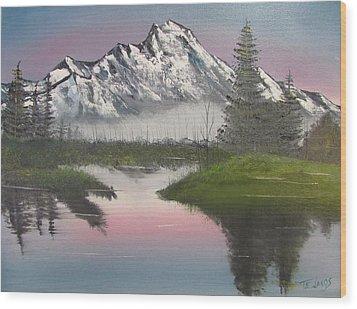 Mountain Sunset Wood Print