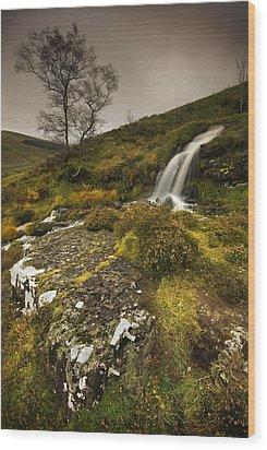 Mountain Tears Wood Print by John Chivers