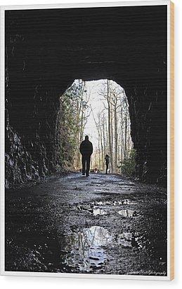 Mountain Tunnel Wood Print