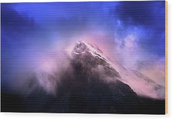 Wood Print featuring the photograph Mountain Twilight by John Poon